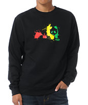 Enjoi Rasta Splat Black Crew Neck Sweatshirt