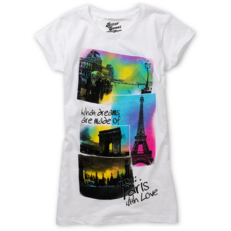 Bitter Sweet Paris Theme White Tee Shirt