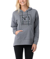 Stussy Girl No. 1 Charcoal Grey Pullover Hoodie