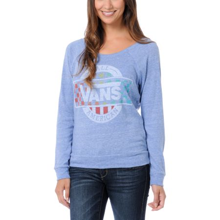 Vans x Junk Food All American Blue Long Sleeve Tee Shirt