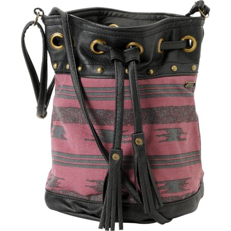 Stussy Nomad Burgundy Stripe Drawstring Purse
