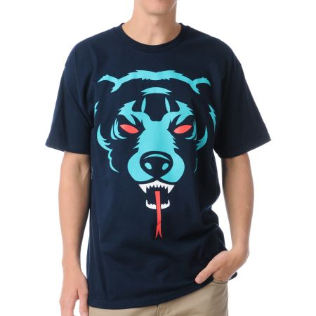 Mishka Oversized Death Adders Navy Tee Shirt