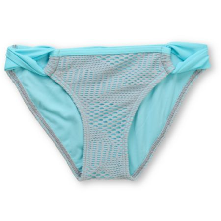Gossip Flip Side Aqua & Grey Crochet Loop Side Bottom