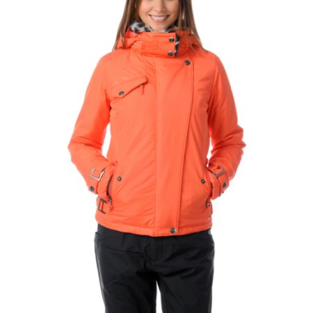 Fox Girls Cocoa Orange Crush Insulated  Jacket
