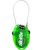 Alibi Snowboards Green Small 2013 Cable Lock