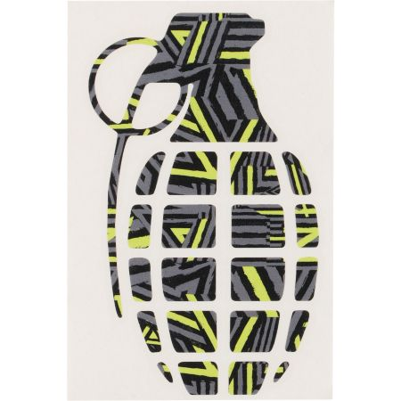 Grenade Doomvision Grey Die Cut Sticker