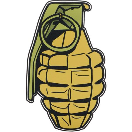 Grenade Printed Assorted Vinyl Sticker