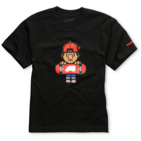 Trukfit Boys Lil Tommy Black Tee Shirt
