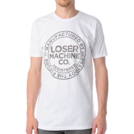 Loser Machine The Loser Union White Tee Shirt