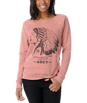 Obey Girls Good Relation To Earth Crew Neck Sweatshirt