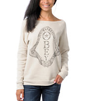 Obey Girls Shark Posse Vandal Crew Neck Sweatshirt