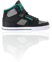 Osiris NYC 83 VLC Black, Gunmetal, & Teal Shoe