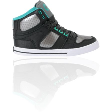 Osiris Kids NYC 83 VLC Black, Gunmetal & Teal Skate Shoe