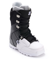 DC Rogan Black & White Snowboard Boot 2013