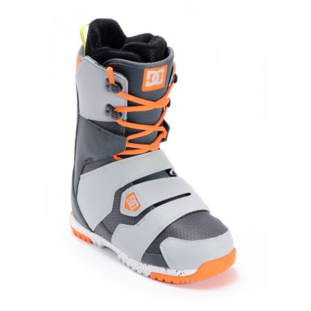 DC Gizmo Grey & Orange Boa Snowboard Boot 2013