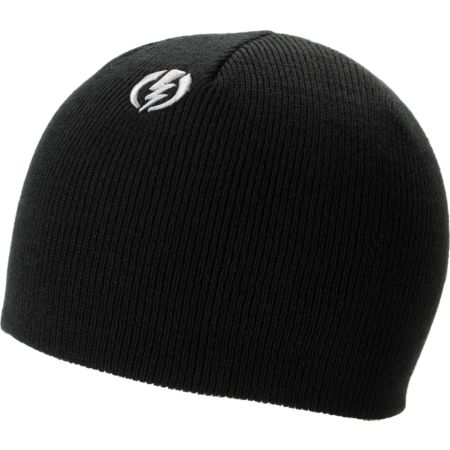 Electric Short Gauge Black Fitted Beanie