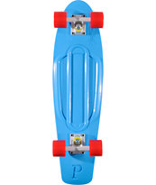 Penny Nickel Blue, White & Red Complete Cruiser Skateboard