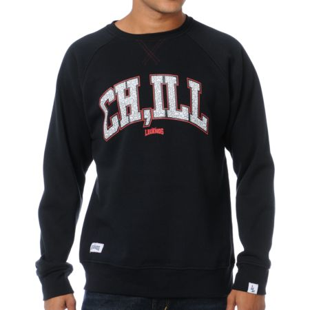 Local Legends CHILL Black Crew Neck Sweatshirt