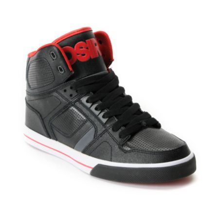 Osiris NYC 83 Vulc Black & Red Shoe