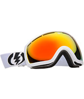 Electric EG2.5 Gloss White 2013 Bronze & Red Snowboard Goggles