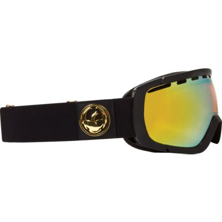Dragon Rogue Jet Black & Gold Ion 2013 Snowboard Goggles