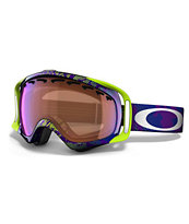Oakley Crowbar Camo Net Purple & Green Snowboard Goggles
