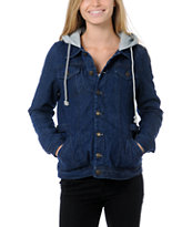 Stussy Girls Buffalo Hooded Jean Jacket
