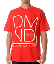 Diamond Supply DMND Red Tee Shirt