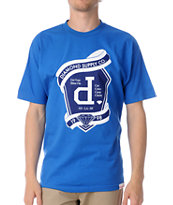 Diamond Supply Un Polo Emblem Blue Tee Shirt