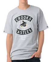 Crooks and Castles Air Gun Spade Grey Tee Shirt