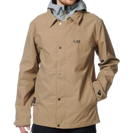 Lib Tech Assistant Coach Khaki 10K Snowboard Jacket