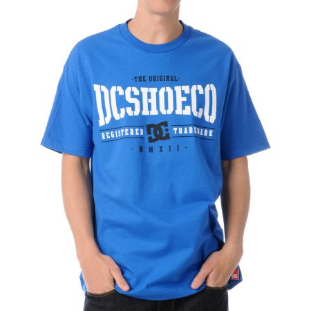 DC Dyrdek Knockout Royal Blue Tee Shirt