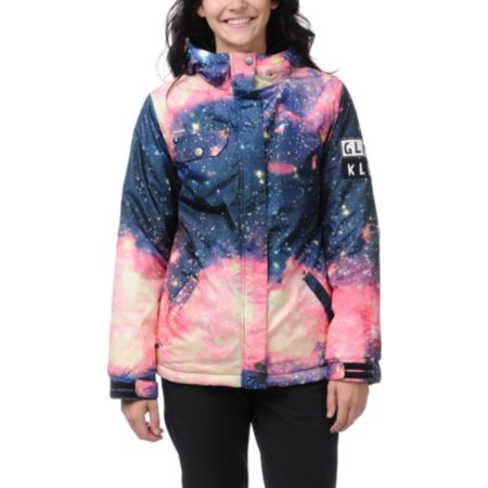 Glamour Kills Infinite Voyage Space Print Snow Jacket