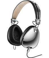 Skullcandy Aviator  Chrome & Black Headphones