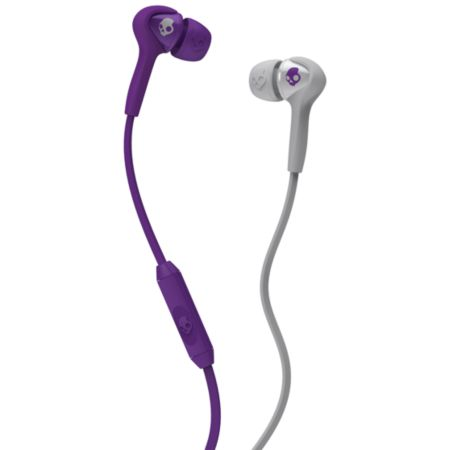 Skullcandy Smokin Buds Grey & Purple Earbuds