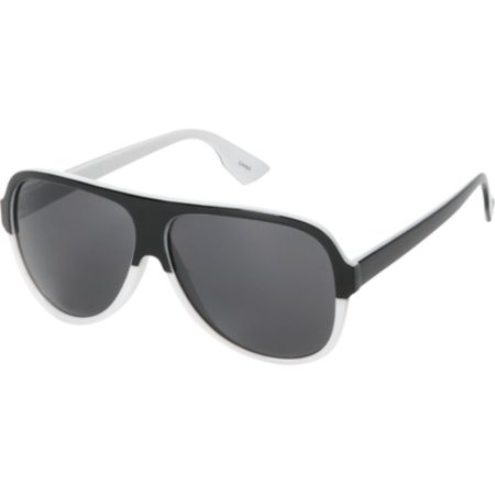 Jack Martin Bawse White & Black Sunglasses