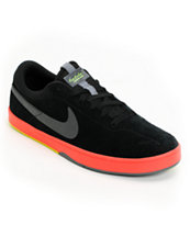 Nike SB Eric Koston Black, Sunburst & Green Skate Shoe