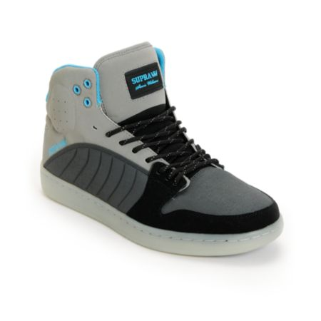 Supra S1W Stevie Williams Grey & Turquoise Mid Top Shoe
