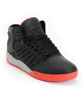 Supra Skytop III Black, Red & Grey Skate Shoe
