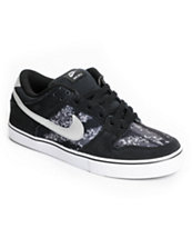 Nike SB Dunk Low LR Black, Metallic Silver & White Skate Shoe