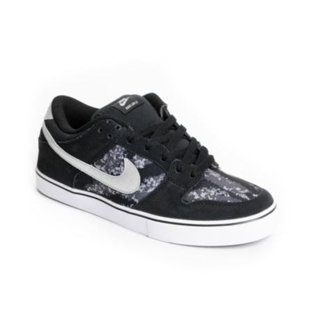 Nike Dunk Low LR Black, Metallic Silver & White Skate Shoe