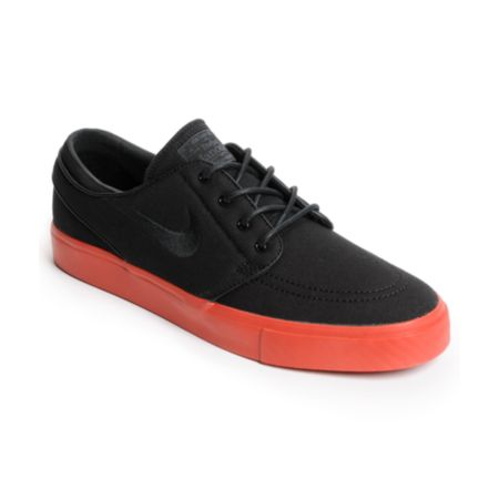 Nike SB Zoom Stefan Janoski Black Canvas & Terra Cotta Red Canvas Shoe