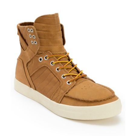 Supra Skymoc Light Brown Leather Shoe