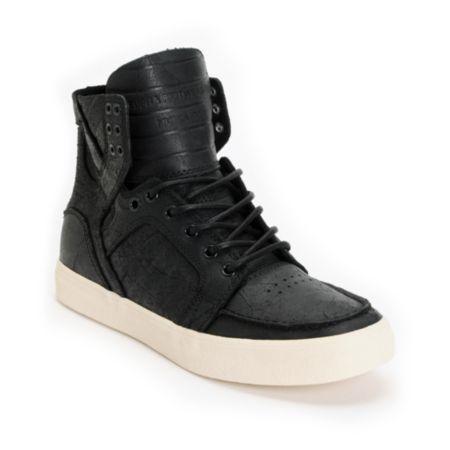 Supra Skymoc Black Leather Shoe