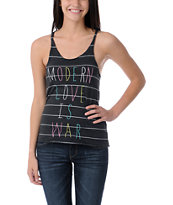 Glamour Kills Modern Love Charcoal Stripe Racerback Tank Top