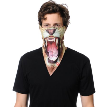 Airhole Lion Brown Face Mask Bandana