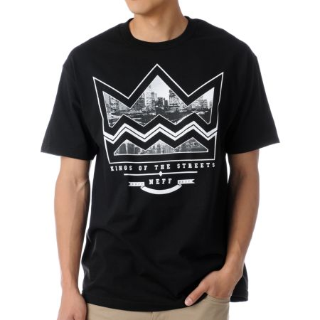 Neff City Crown Black Tee Shirt