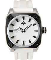 LRG Gauge Silver, White & Black Analog Watch