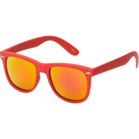 Jack Martin Frisky Business Matte Red & Fire Sunglasses