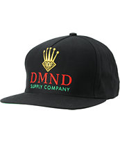 Diamond Supply DMND Crown Black Snapback Hat